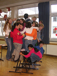non-competitive musical chairs, Wikipedia